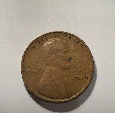 1936 Wheat Penny With Lamination Error