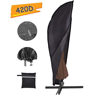 Heavy Duty Outdoor Garden Parasol Umbrella Cover Protector Waterproof w/ Zipper