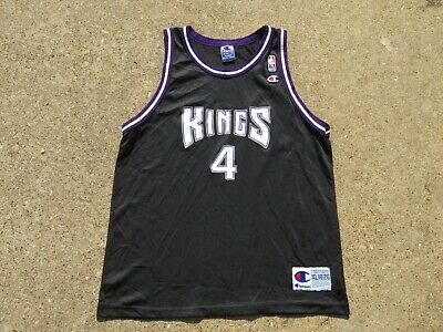 657c159530a4 Vintage Sacramento Kings Champion Jersey Chris Webber XL Youth NBA 90s Rare