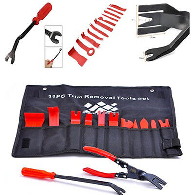 Auto Upholstery Tools Trim Removal Set with Clip Pliers and Fastener Remover Kit