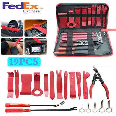 19PCS Fastener Trim Panel Removal Tools Clip Plier Set  Auto Upholstery For Car