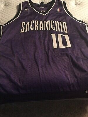 9c62f6ca5c38 SACRAMENTO KINGS MIKE Bibby NBA Reebok Jersey Purple Mens Size XXL ...
