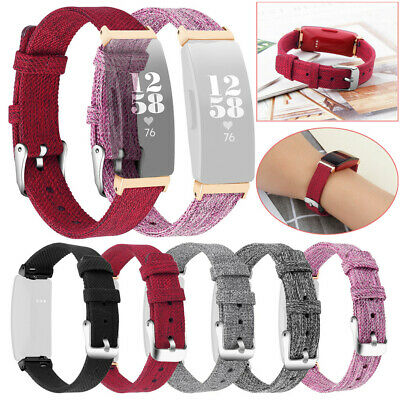 - Replacement Woven Canvas Fabric Watch Band Strap For Fitbit Inspire/Inspire HR
