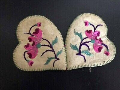 E704 Embroidered Silk Ear Muffs for Infant - Antique Chinese Embroidery