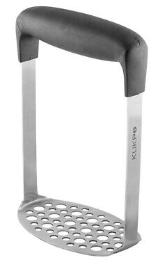 KUKPO High Quality Stainless Steel Potato Masher with Broad and Ergonomic Handle