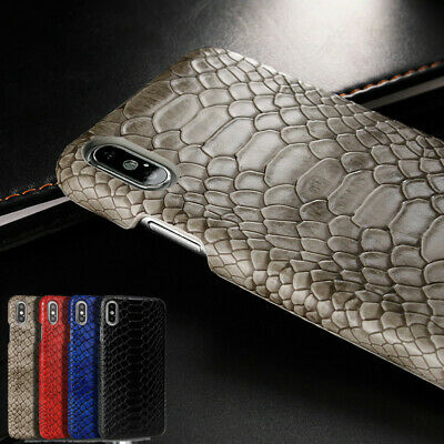 For Apple iPhone X XR Xs Max 6 8 7 Plus Snake Skin Style Leather Case Hard Cover