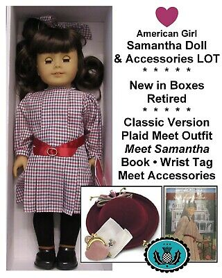American Girl_SAMANTHA DOLL + MEET ACCESSORIES LOT_Historical Set_Retired_NEW
