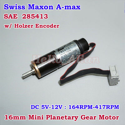 Swiss Maxon A-max Planetary Gear Motor With Holzer Encoder DC 5V-12V 164-417RPM