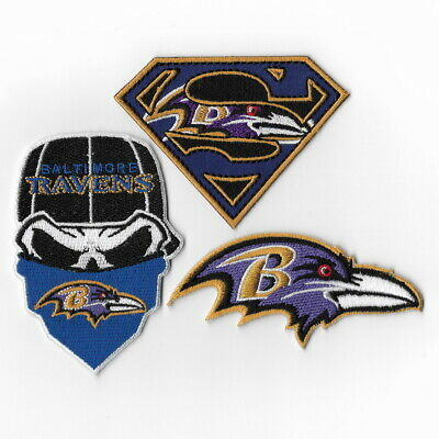 84ddf042af4301 3PCS Baltimore Ravens iron on patch embroidered patches bebibeamba Mix Lot