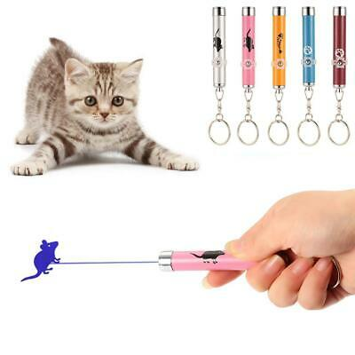 Laser Cat Stick Laser Pointer Pen for Cats Kitten Toy With LED Light Key Chain
