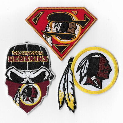 105d798a WASHINGTON REDSKINS~IRON ON Skull with Bandana Patch~Free Shipping ...