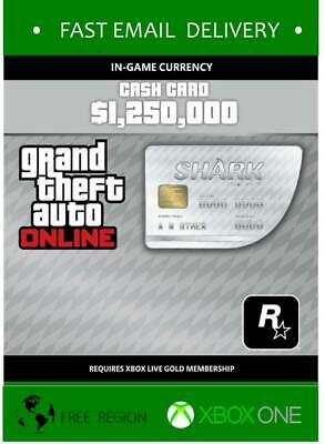 GTA V White Cash Card - Xbox One Electronic Delivery *READ TERMS*
