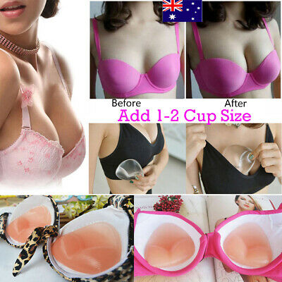 AU Silicone Gel Bra Breast Enhancers Push Up Pads Chicken Bikini Fillets Inserts