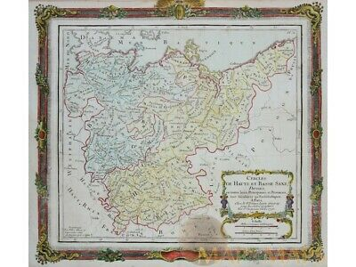 Antique Map Germany Poland Basse Saxe Desnos 1790
