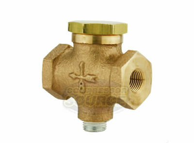 """1/8"""" Solid Cast Brass In Line Horizontal In Line Check Valve Air Compressor"""