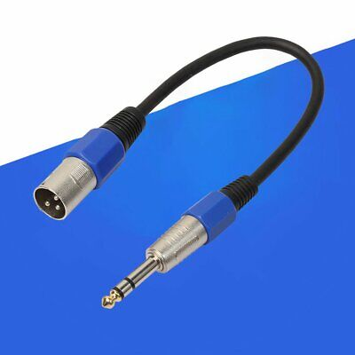 Male XLR to 6.35mm Stereo Jack Cable Active Powered Speaker Lead TRS Balanced CG