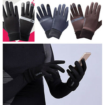 Windproof Warm Sports Running  cashmere Thin Gloves Winter Full Finger Mittens