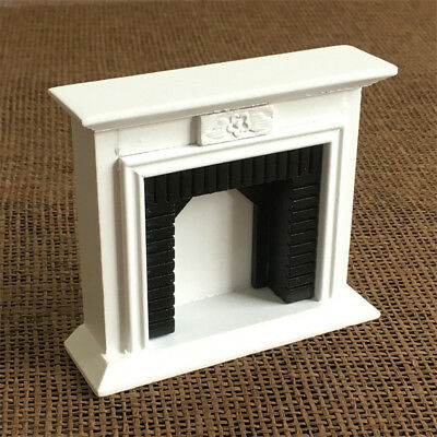 Wooden Vintage Miniature Fireplace for 1/12 Scale Dollhouse Room Furniture Accs