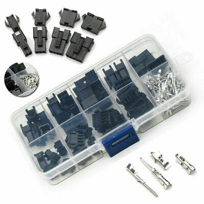 New 200PCS JST-2.54mm Male Female Wire Jumper Pin SM Plug Connector Housing Kit
