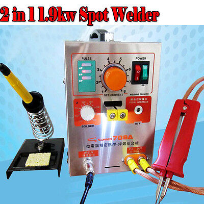 2 in 1 1.9kw Spot Welder with Soldering Iron 220V 709A Battery Welding Machine