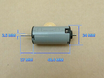 DC 12V 10000RPM Carbon Brush Motor Large Torque Dual Shaft Flat Shaft Low Noise