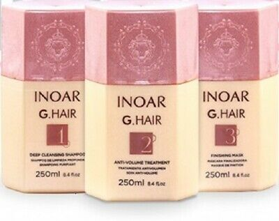 INOAR G-Hair Brazilian Keratin Treatment Blow Dry Hair Straightening FULL KIT