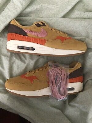 wholesale dealer ddf02 eda00 Air Max 1 Crepe Wheat Gold Rust Pink CD7861 700 Size 10