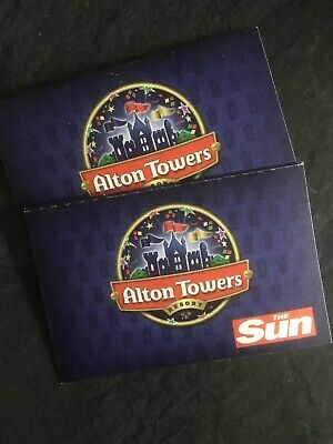 Alton Towers Resort Tickets x 2 03/09/19 3rd September 2019