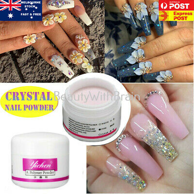 WHITE, CLEAR, PINK Color Acrylic Powder for Nail Art False Tips