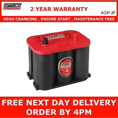 Optima RedTop RT U 4,2 12V 50Ah AGM Batterie Autobatterie US Cars Starter