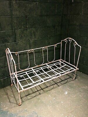 Antique French metal day bed