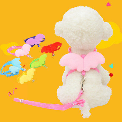 1X ferret chinchilla guinea pig mouse harness leash angel wings small pet animal