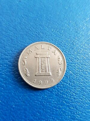 1972 Malta 5 Cent Cents Coin