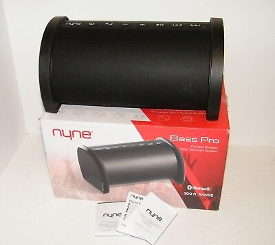 NYNE BASS PRO Wireless Bluetooth Speaker - Works Great - Missing USB Cable