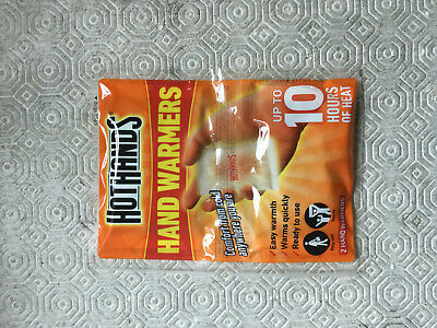 Hot Hands Hand Warmers Heat Warming Pads x 1 Pair Outdoors Camping 10 Hours Heat