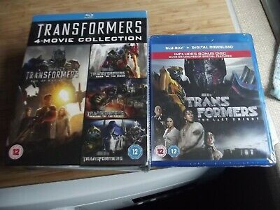 Transformers  BLU RAY SEALED BOXED 1-4 & THE LAST KNIGHT SEALED 2 DISC SET.
