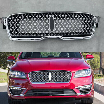 Honeycomb Front Bumper Upper Chrome Grille Grill Fit For Lincoln MKZ 2017-2019