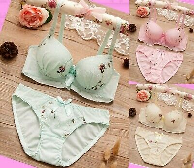 Girls Bra Knickers set 2 pcs Briefs Top Cotton Panties Adjustable Age 11-18 year