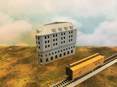 Art Deco Mid Century Office Building N Scale 1:160 Add Floors to Customize
