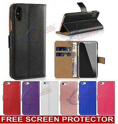 For iPhone XS Max XR X 6s 7 8 5s Plus Case Flip Wallet Leather Book Phone Cover