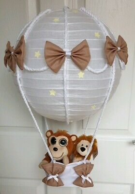 Hot Air Balloon with jungle animals Looks Stunning  Nursery Baby