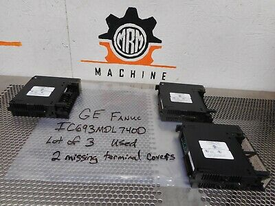 GE Fanuc IC693MDL740D Output Module 12/24VDC 0.5A 16PT POS Used (Lot of 3)