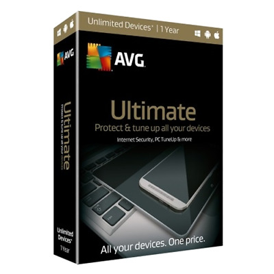 AVG Ultimate 2019 1 Year Unlimited Devices Global Key |  Install new / Renew