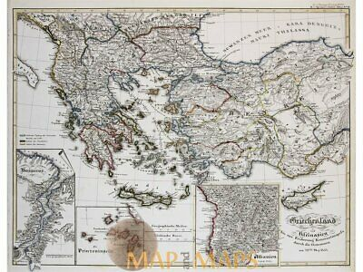 Greece and Asia Minor to 1453 antique map Spruner 1846