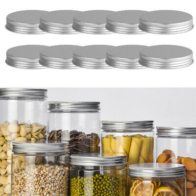 25 Aluminum Screw Top Round Container Bottle Tin Can Lid 68*14mm with Foam Liner