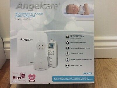 Angelcare Baby Movement and Sound Monitor AC403 White Movement sensor