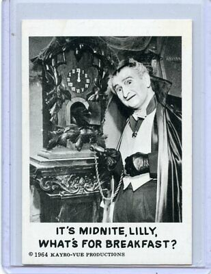 1964 THE MUNSTERS Card #37 Leaf Brands  Kayro-Vue Productions  EX+