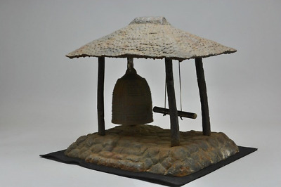 Japanese Antique Cast Iron Temple Bell Ornament Good Sound Very Heavy Weight