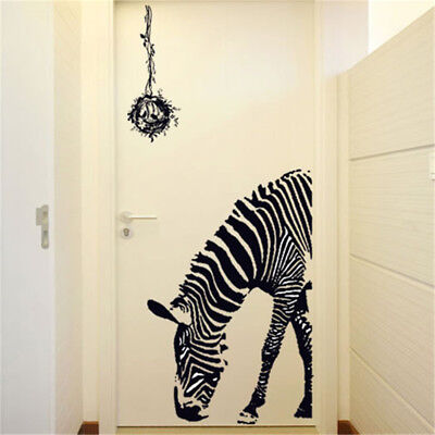 Lovely Zebra DIY Wall Stickers Abstract Art Black Decor Animal Stickers Stick HV