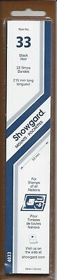 Package of 22 Showgard Strip Mounts for 33 mm Stamps 215/33 Black